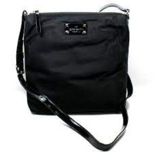 KATE SPADE VICTORIA BASIC NYLON BLACK CROSSBODY.